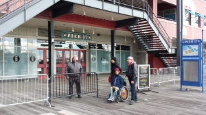 Pier 17 guard outside