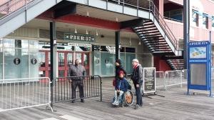 Pier 17 guard outside